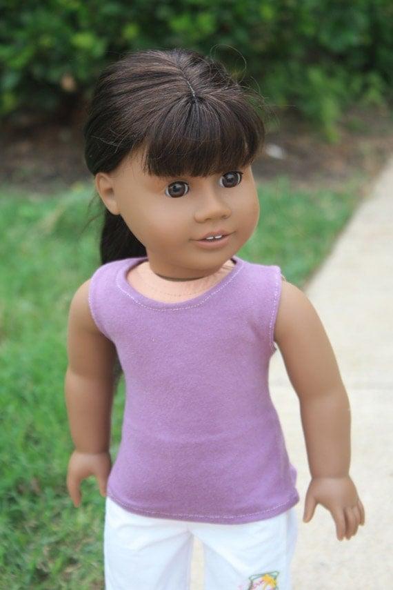 Plum Tank Top for American Girl Dolls