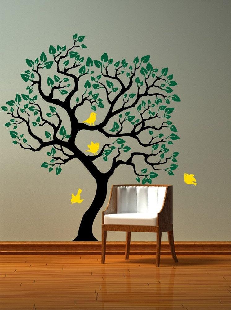 Как нарисовать дерево на стене своими руками пошагово фото