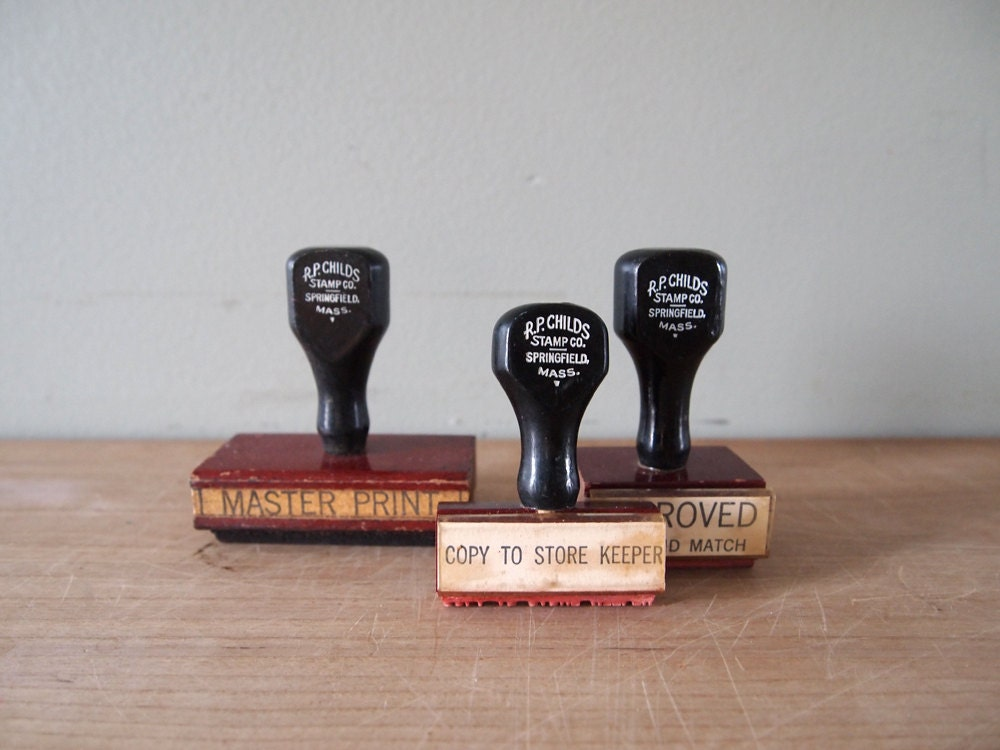 Vintage Rubber Stamps (Set of 3) - evanspicks