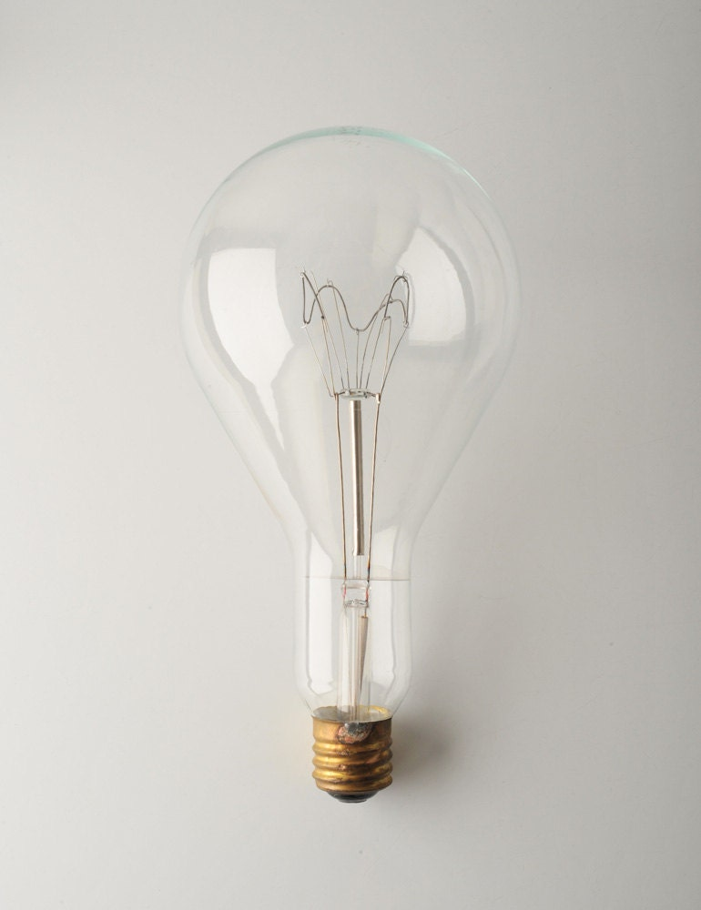 A Great Idea - Large Vintage Lightbulb - 1500W - fallaloft