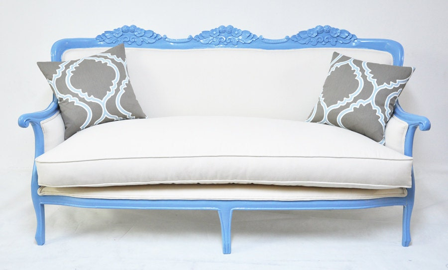 Classic baby blue couch