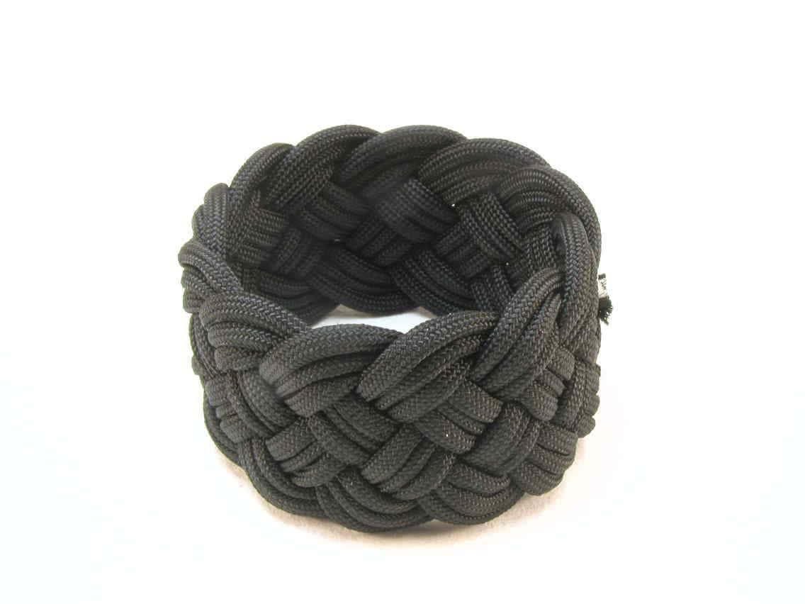 black paracord turks head knot sailor rope bracelet  small 1891