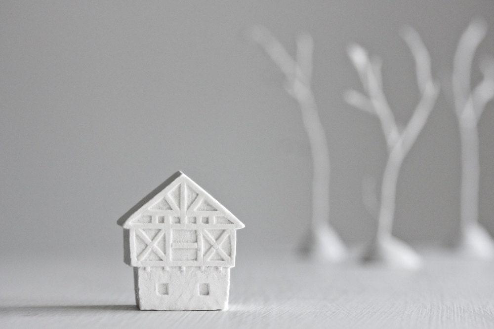 german half-timbered architecture - freestanding art object - POAST