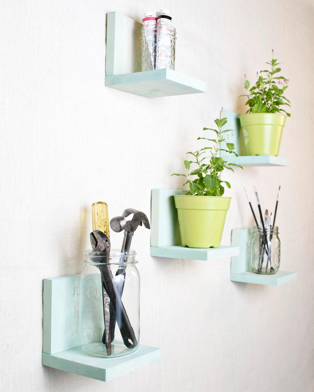 Simple Shelf - Wall Storage/Bookshelf - Set of 5 - Ocean Mist - AnotherCup