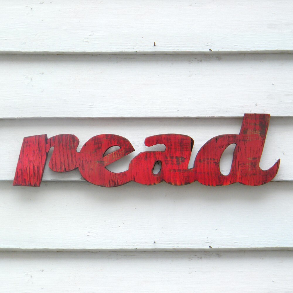 Read Sign Barnwood Red Readers are Leaders Back to School - SlippinSouthern