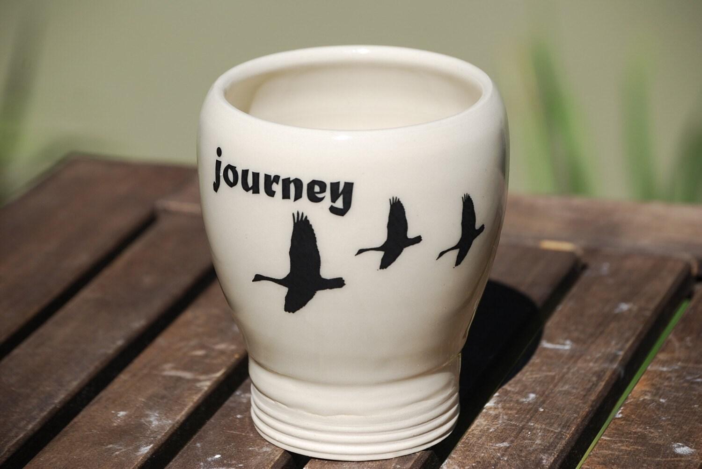 ceramic cup or pencil holder or desk vase