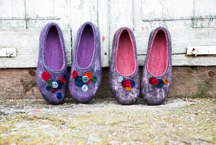 Felted slippers CIRCLES