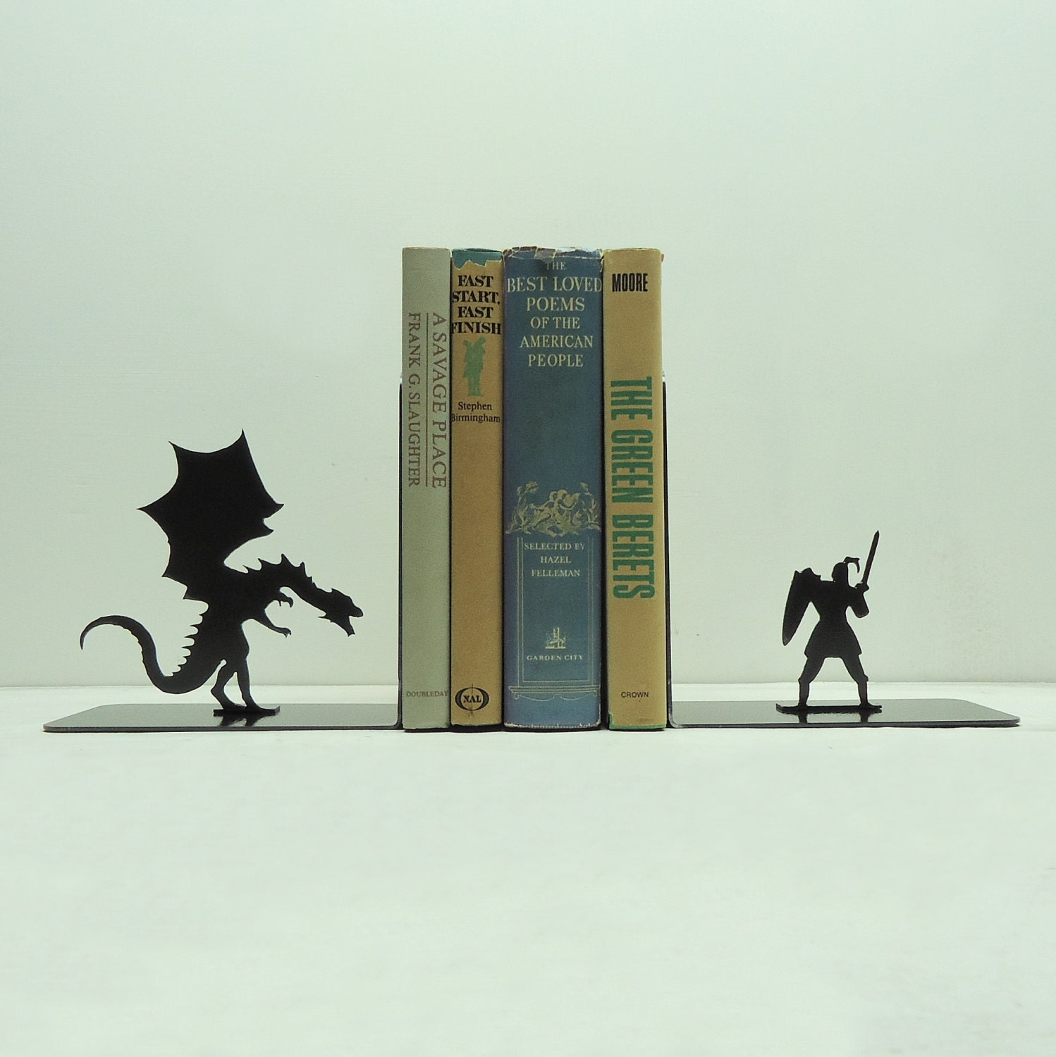 Dragon & Knight Bookends - Free USA Shipping