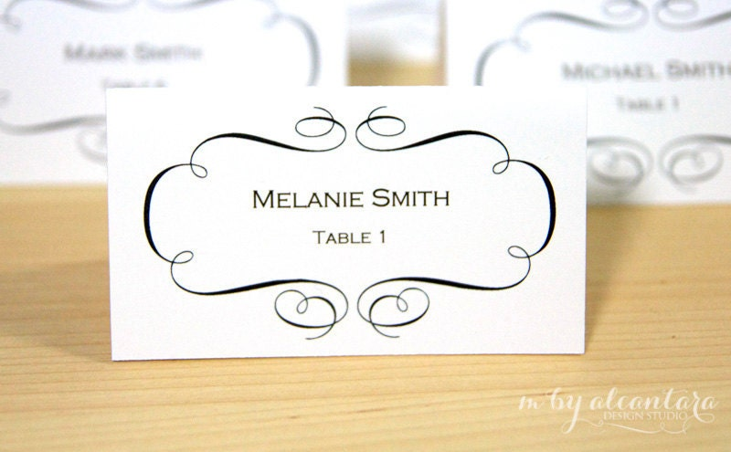 printable placecards templates free .