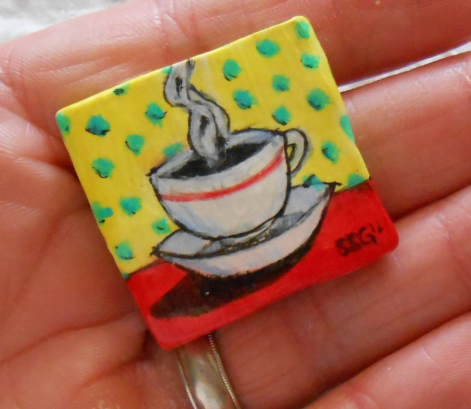 Art Pin - Coffee, Lovely Coffee