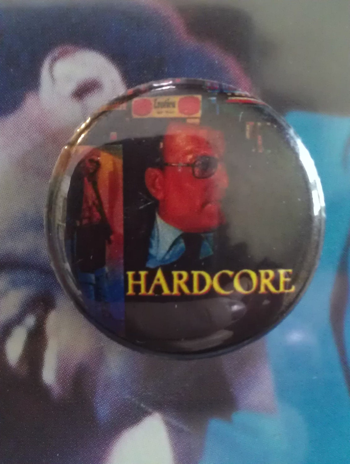 ... Pin Pinback Badge Exploitation Cult Film Movie Porno Adult Taxi Driver
