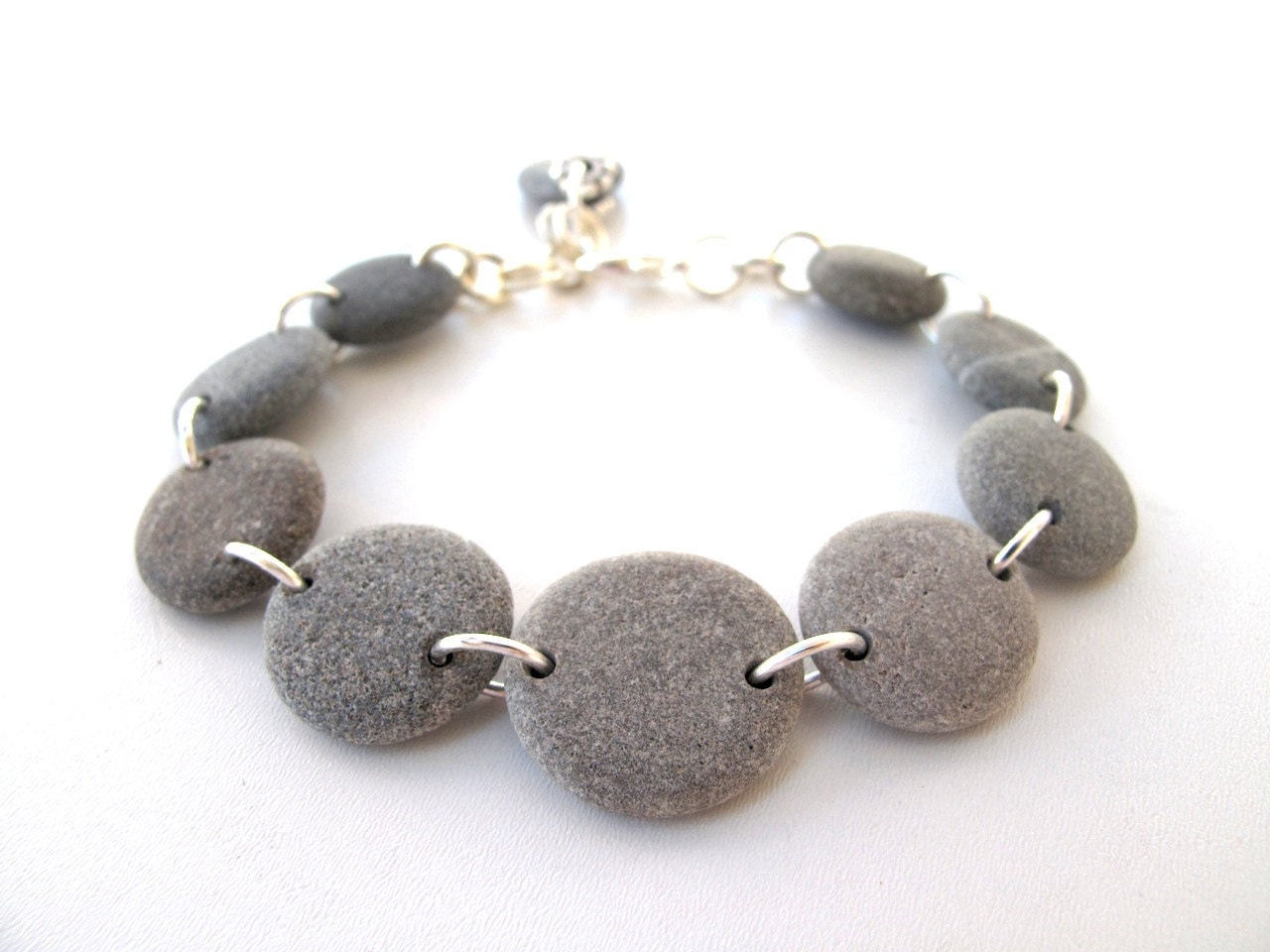 Beach Stone Jewelry - VUOLA Bracelet by StoneAlone - Beach Pebble Bracelet, Rock Jewelry - StoneAlone