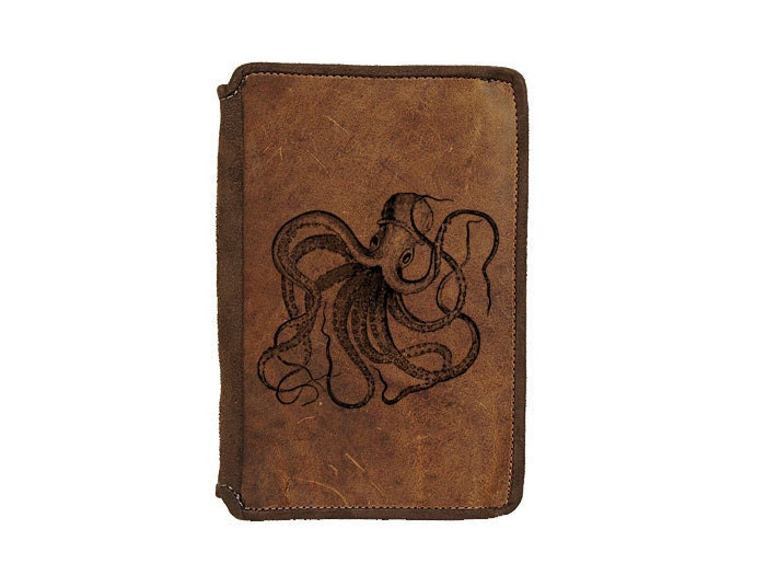 Best Kindle Fire Leather Case - Octopus