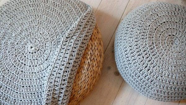 Cobertura Crochet fezes - Prata