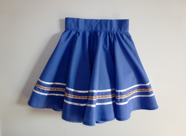 Vintage Blue Circle Skirt - Apearsvintagegoodies