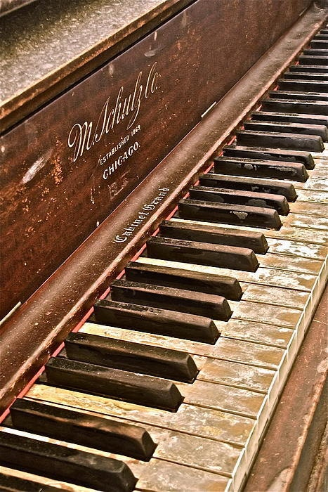 Better to have loved and lost- jazz, Old Time, piano, Keys, Weathered, Music art, rustic, Suga Shack, Dance, Sepia, - KianaKeiserFineArt