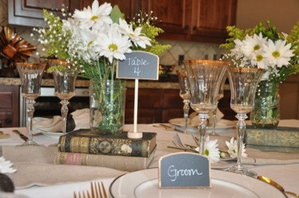 Elegant Wedding Chalkboard Table Frames ROSIE style Place Settings Food