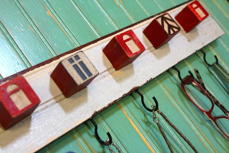 Architectural Block Hook Rack