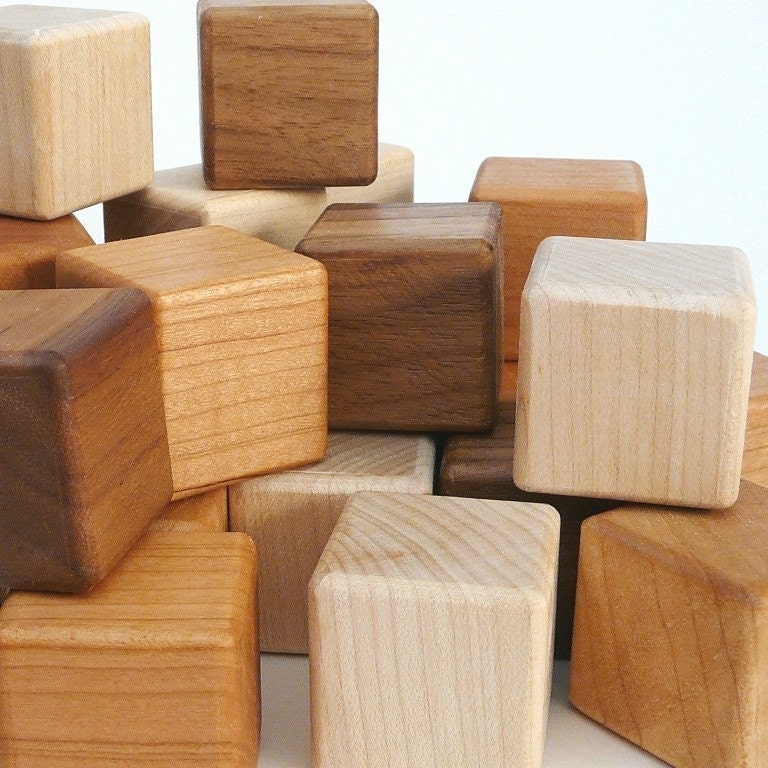 Wooden Blocks wooden toy baby blocks organic 12 piece building block set