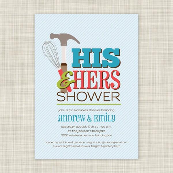 Couple Bridal Shower Invitation Wording