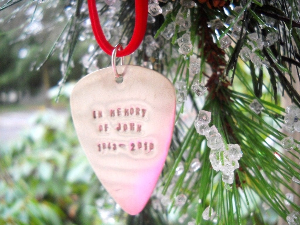 Purely Paige Guitar Pick Christmas Ornament Giveaway  Emily Reviews