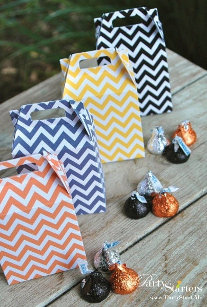 Chevron Modern MINI Gable Box Favors
