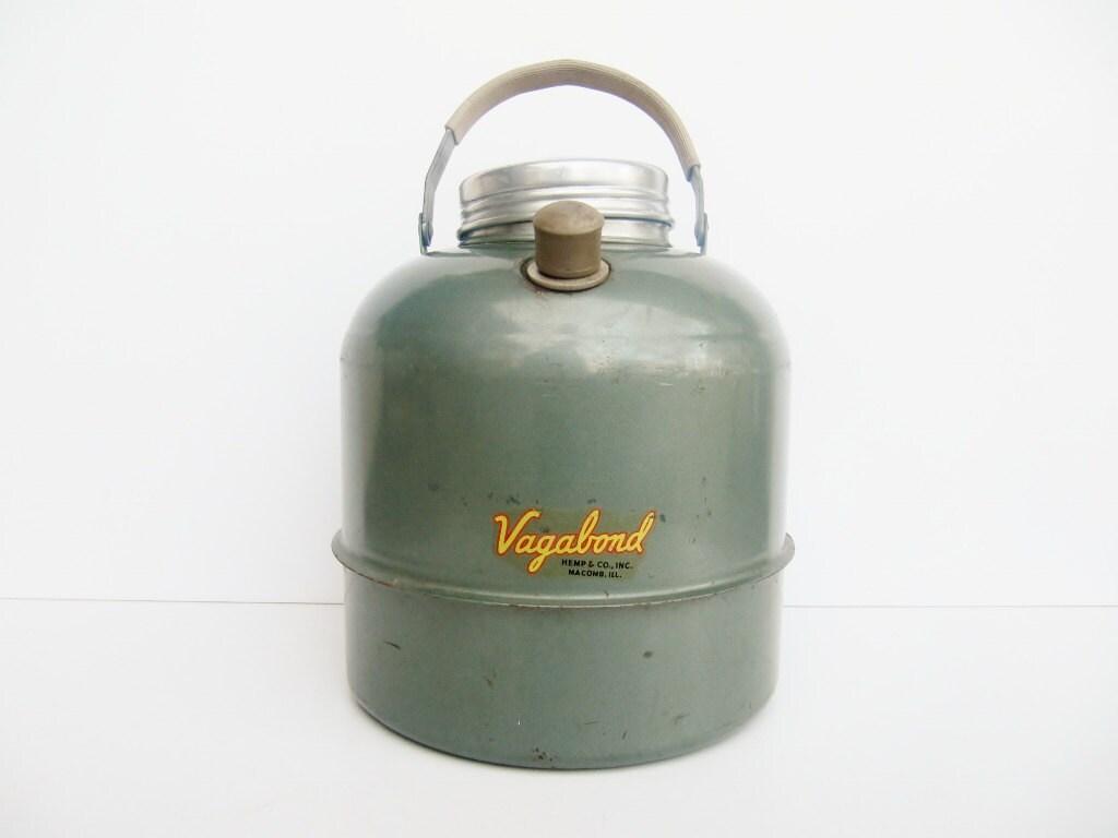 Vintage Camping Water Jug or Cooler Vagabond - Modred12