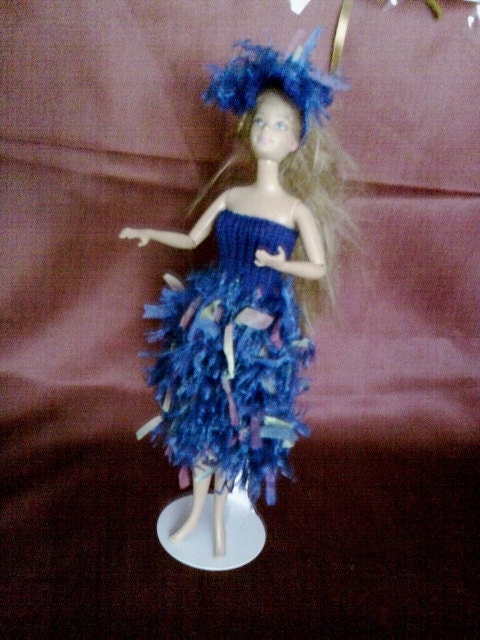New handmade ROYAL WEDDING inspired design dress and hat - barbie doll clothes (nannycheryl)  760x 54
