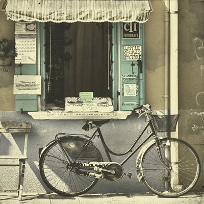 Burano Bicycle - 5x5 Fine Art Photograph - Home Decor Venice Island Bike Italy Wall Art - lorandherworld