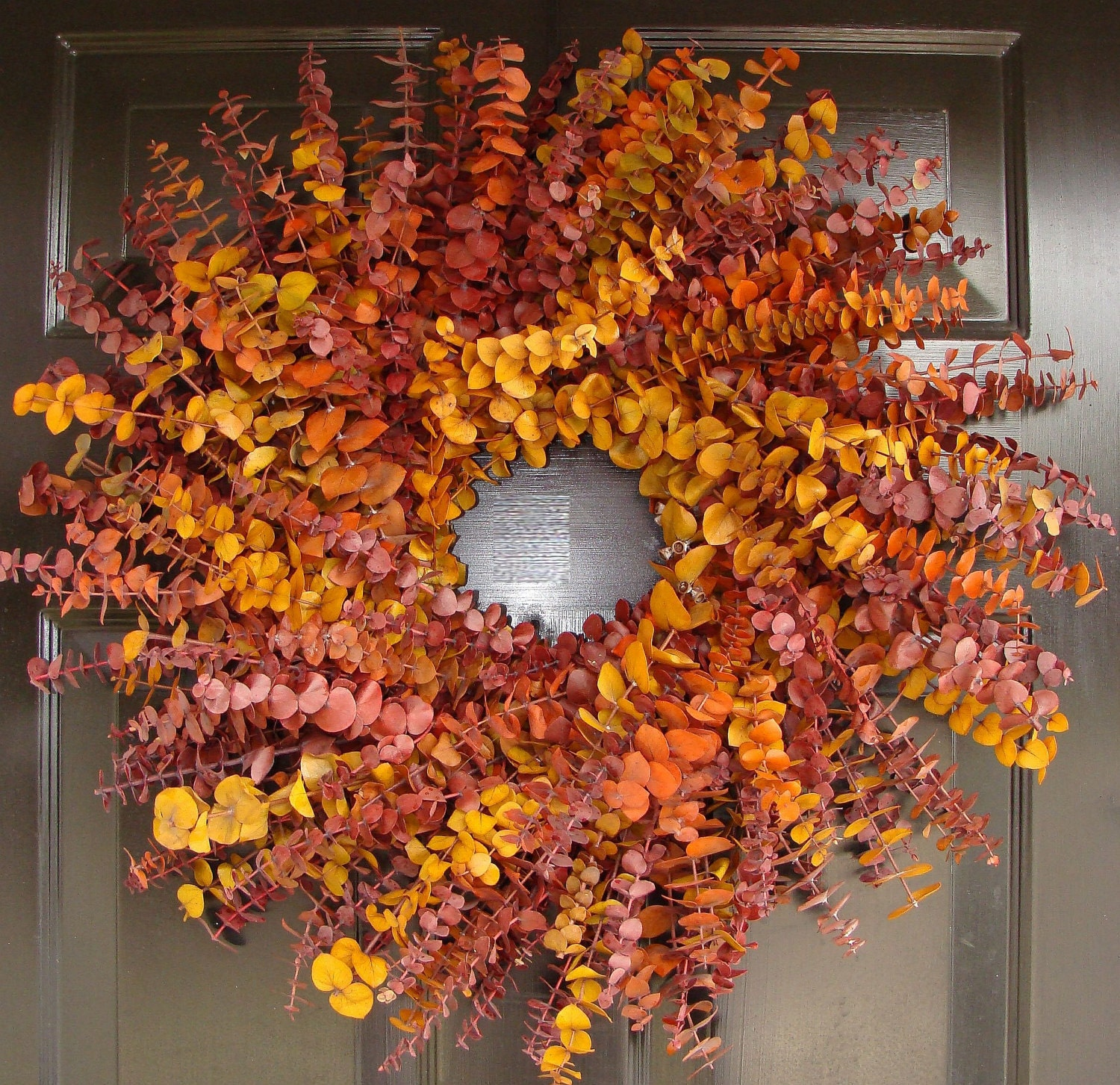Autumn Wreath- Eucalyptus Dried Floral Fall Wreath- Fall Eucalyptus Wreath- Thanksgiving Wreath- Holiday Wreath Decor - elegantholidays