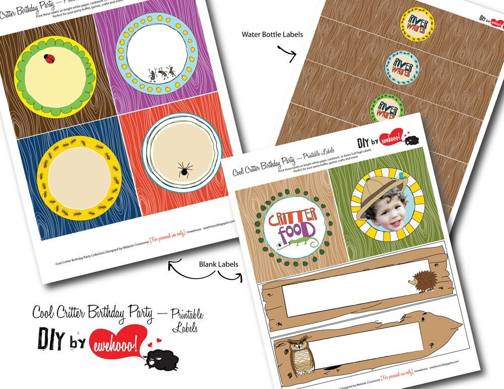 printable party labels   cool