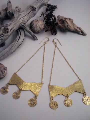 The Queen In Me Bronze Chandelier Earrings