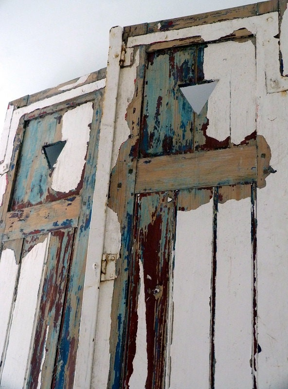 Vintage French Distressed Shutter Doors - OrmstonSaintUK