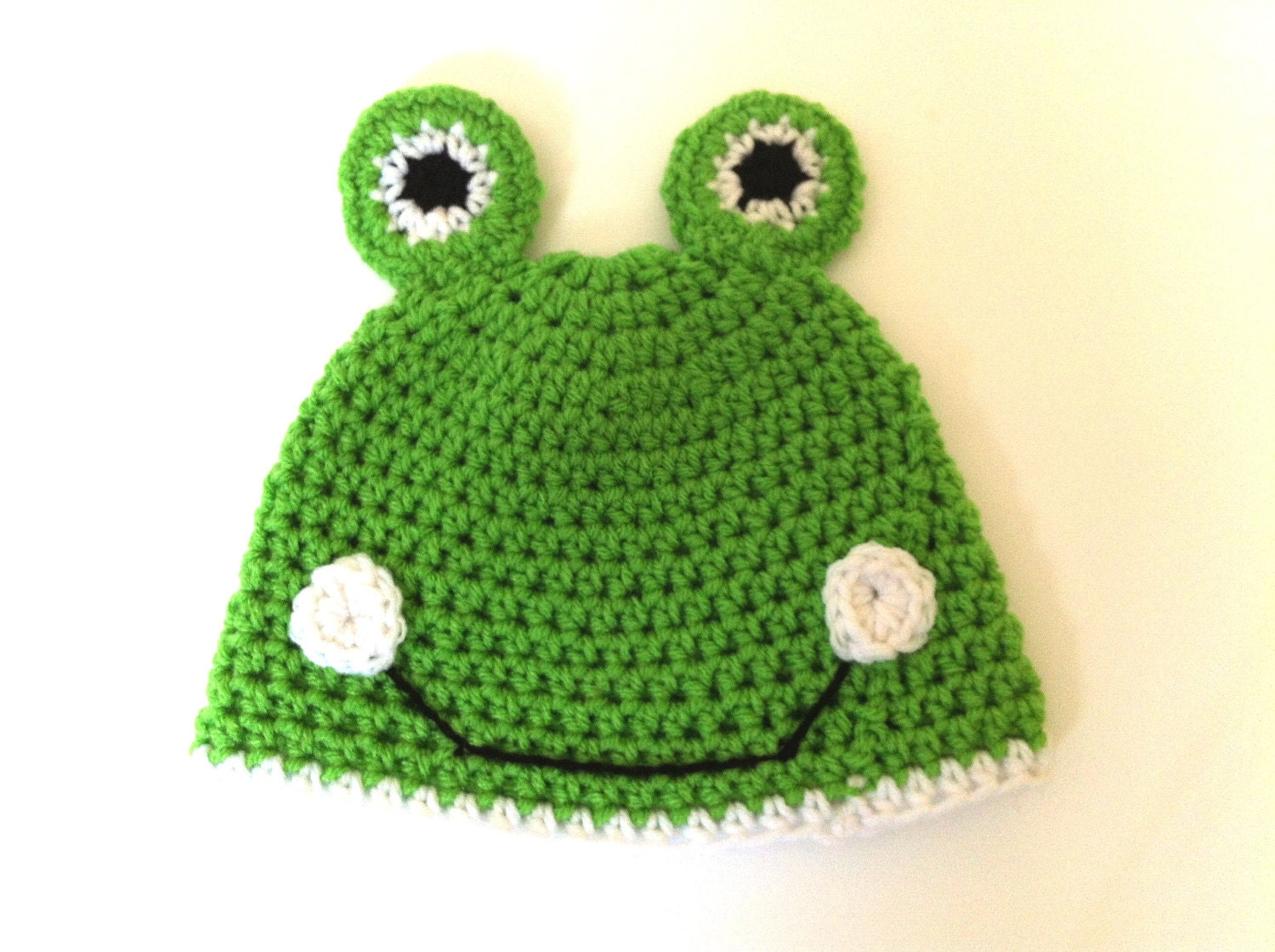 Baby Frog Hat, Crochet Beanie Hat, Ready to ship