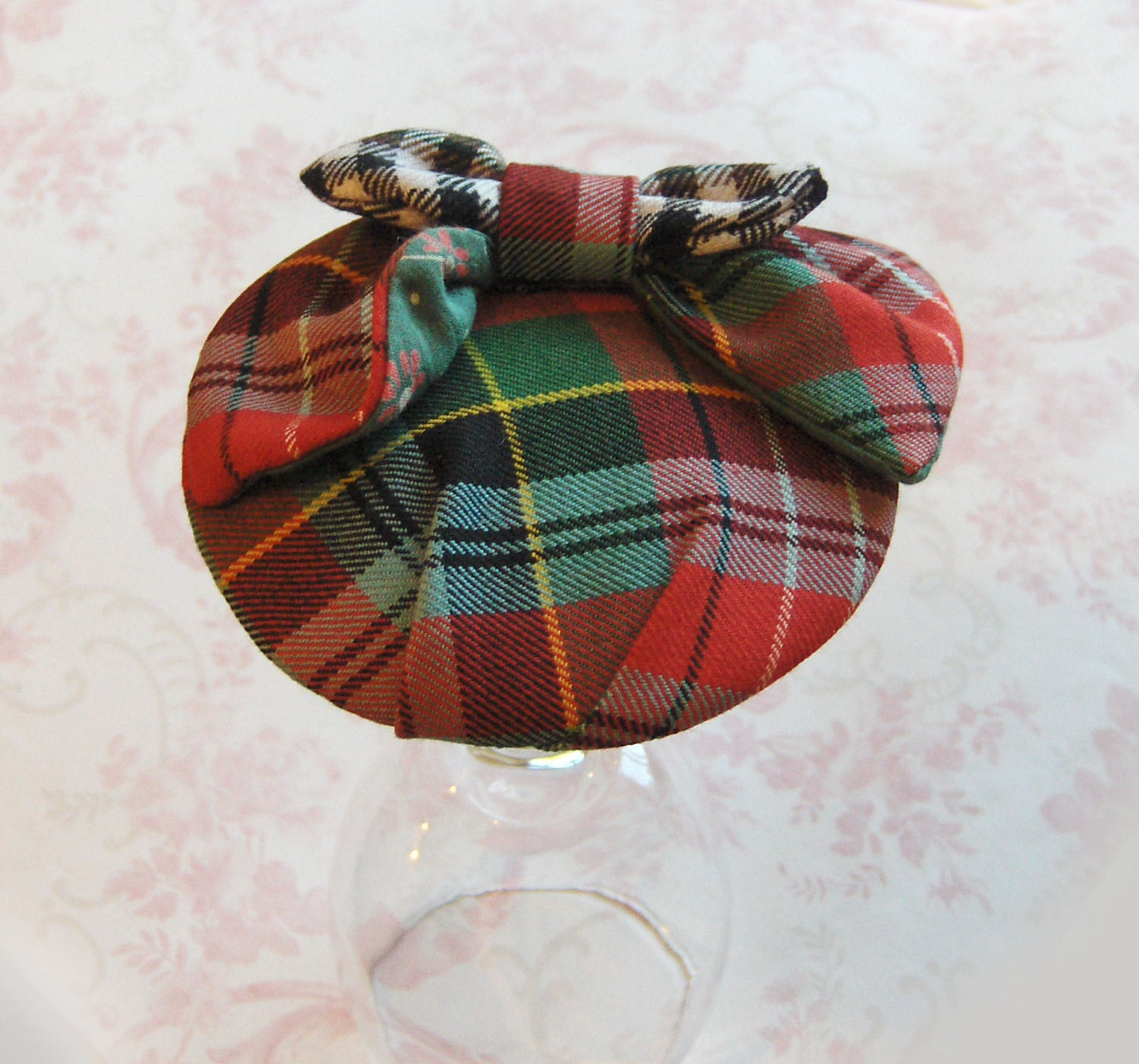 Tartan Plaid and Harris Tweed Cocktail Hat.
