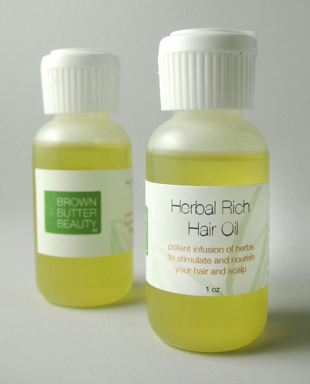 Herbal Rich Hair Oil - Neem, Nettle, Burdock, Comfrey Root, Chamomile, Black Walnut Hull, Calendula Flowers, Essential Oil
