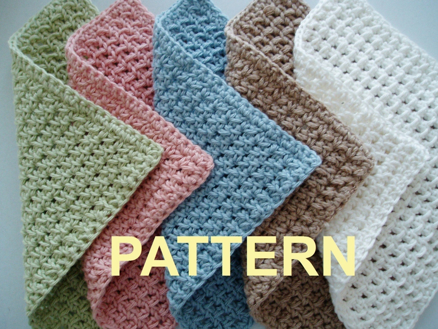 Free Online Crochet Dishcloth Patterns : Crochet Washcloth Patterns - Pattern Collections
