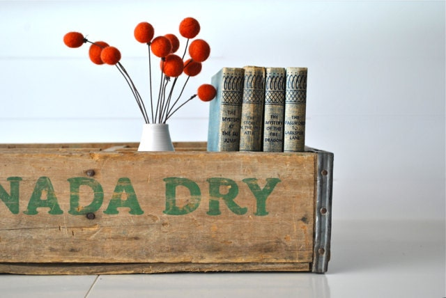 Wooden Canada Dry crate with four sections - charliesnest