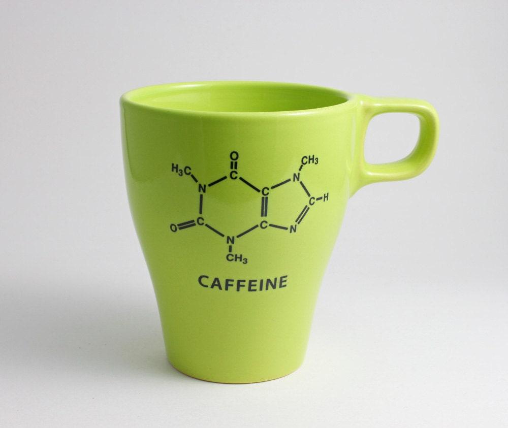 Spring Green Caffeine Chemistry Coffee Mug - LLTownleyCeramic