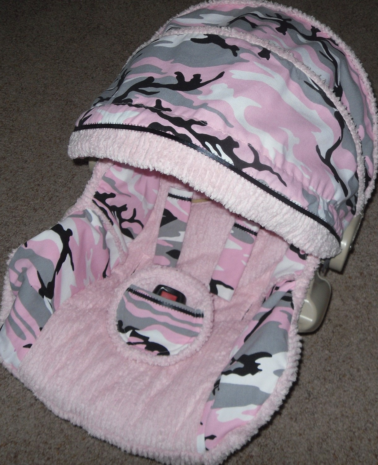 Camo Infant Car Seat Covers For Girls