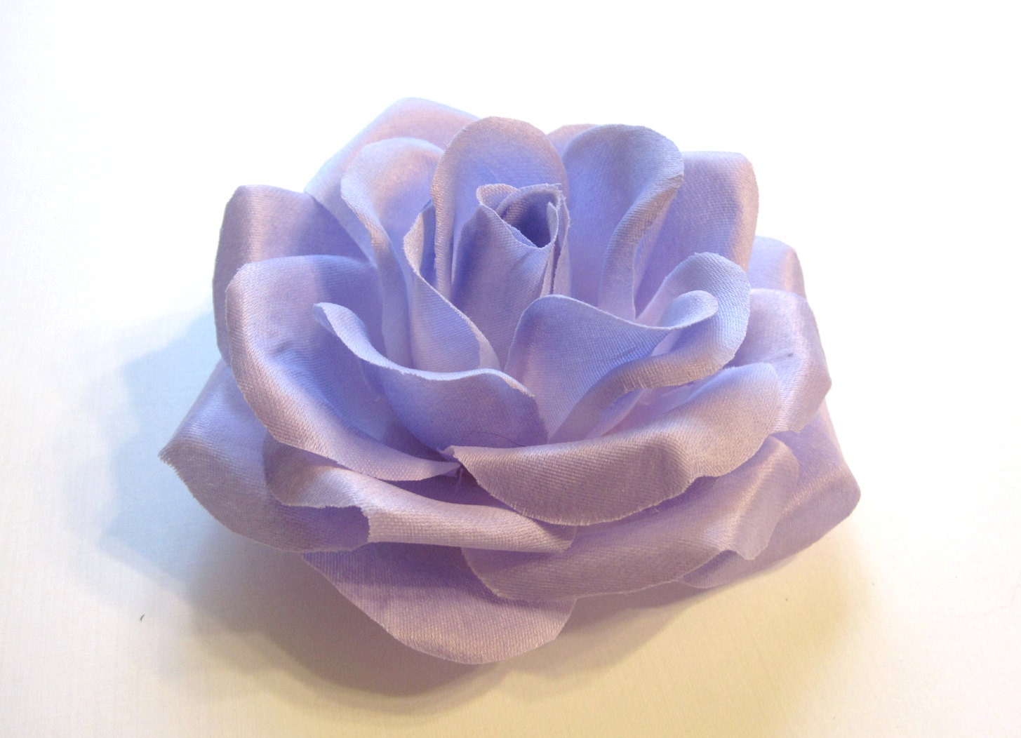 Lavender Rose - Lilac Fabric Flower Hair Accessory or Pin - Bride or Bridesmaid - HairFair