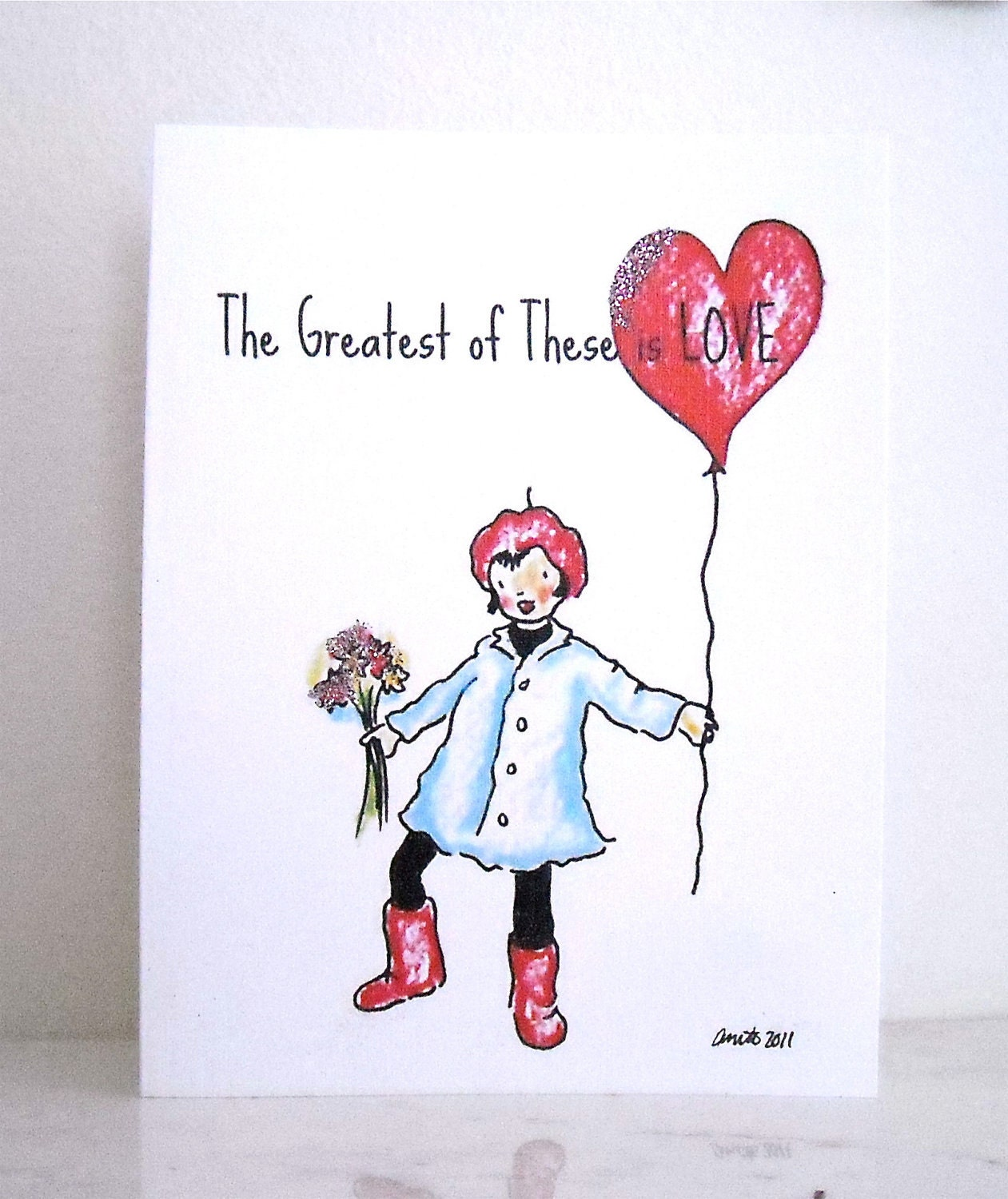 Valentine's Day Cards Little Blue Coat Series