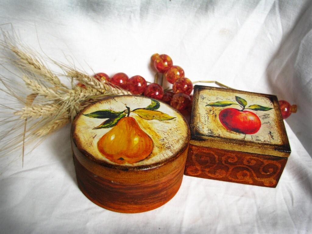 Груша и Яблоко Harves коробки Время ювелирные изделия, отправляя во всем мире