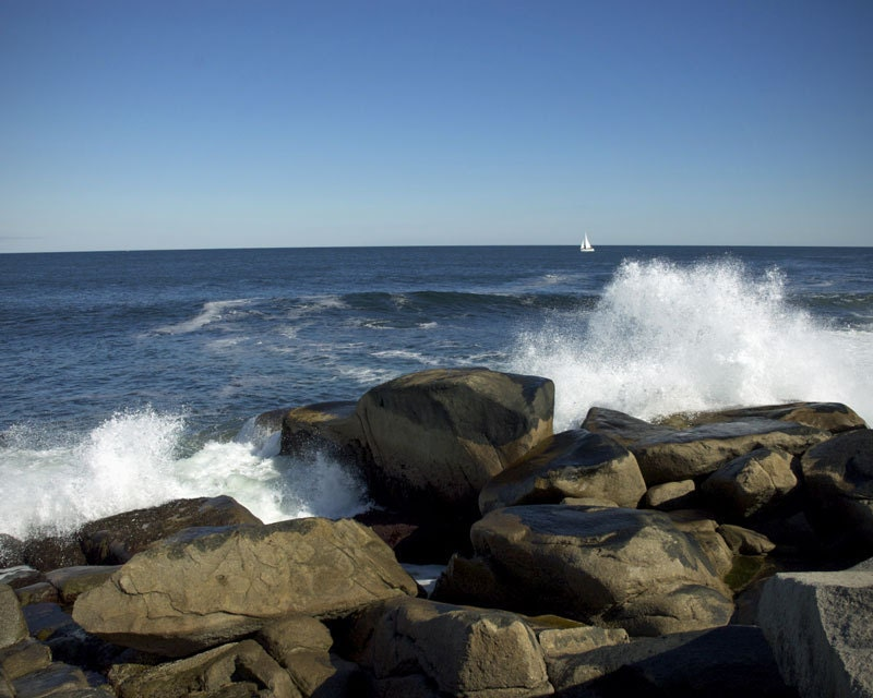 Rocky Shoreline, Rockport, MA - 8x10 Color Photograph