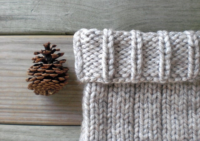 Hand knit rustic cowl / gray winter wheat / autumn accessory / country chic / earthy / warm gray / handmade on Etsy