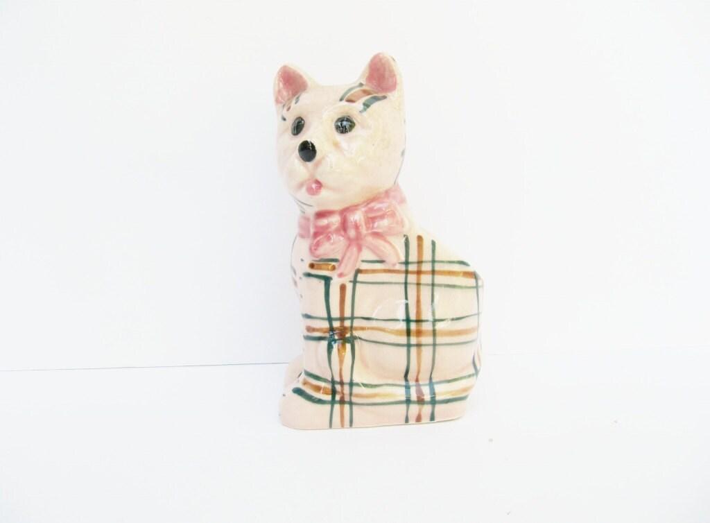 Kitsch Plaid Pink Cat Planter - Modred12