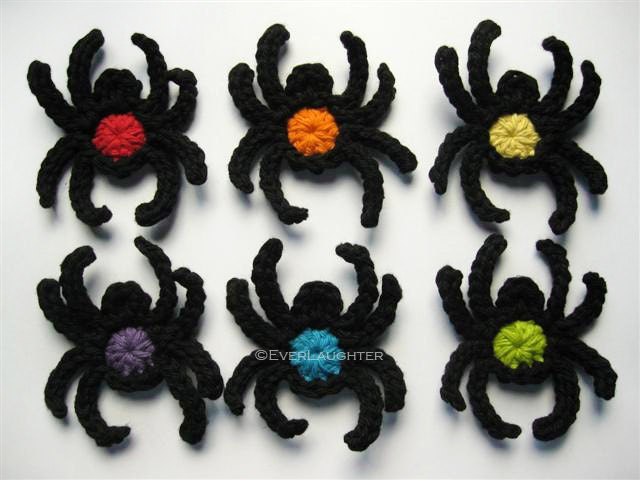 PATTERN-Crochet Spider Applique-Detailed Photos