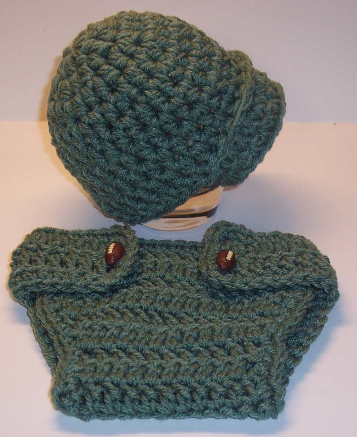 Newborn CHUNKY NEWSBOY HAT and Button Diaper Cover Set Great Photo  Props  Pdf  Pattern  Instructions  pattern116