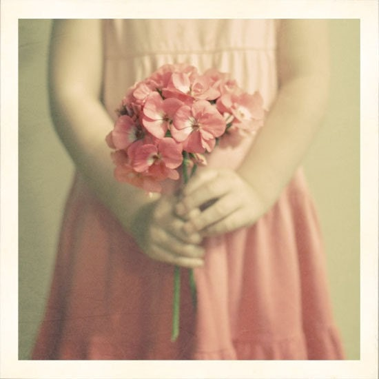 Цветочница - 5x5 печати - питомник декора свадьбы элегантный персиковый розовый пастельный фотографии