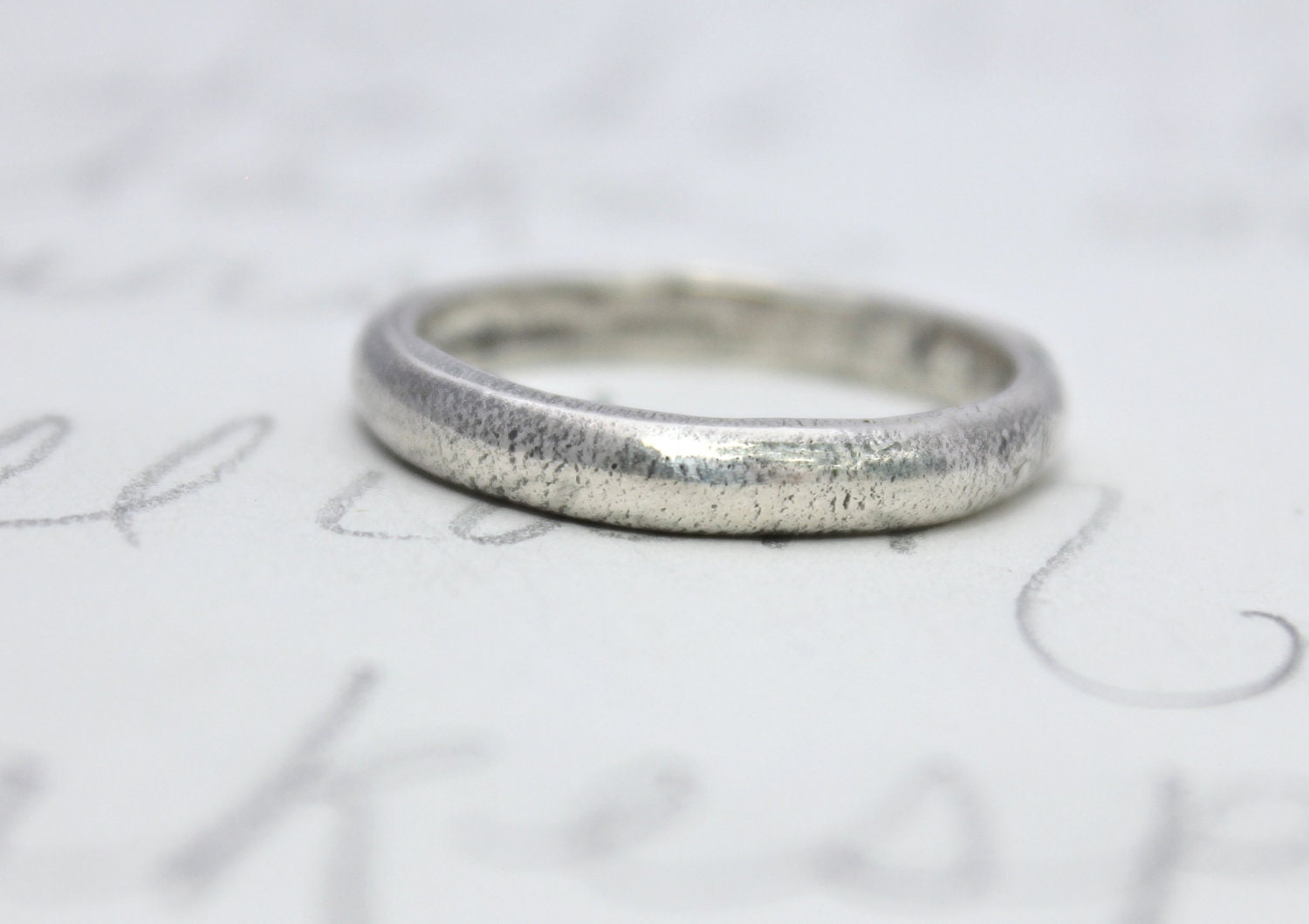 simple wedding ring band . recycled silver engraved womens domed
